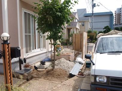 現場の様子/キュートでナチュラルなお庭