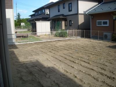 お庭工事/工事前の様子
