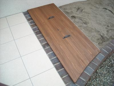 庭工事/木製フタ