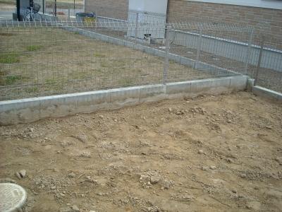 お庭工事/隣地境界ブロック