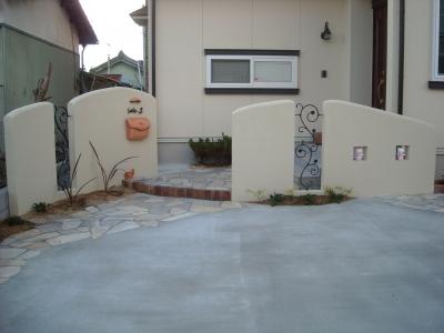 門周り/塗り壁/アイアンフェンス