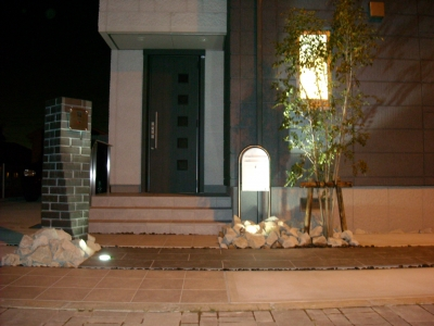 門周り/LEDライトアップ