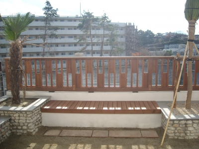 バリ リゾートガーデン/ウッドフェンス