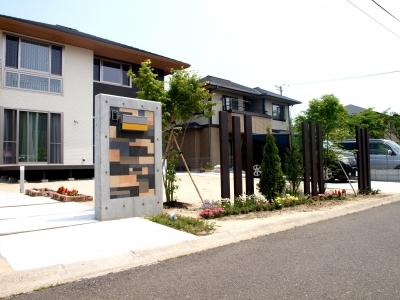 宮城県富谷町/上品なシンプルモダン/エクステリア&ガーデンのジーランド
