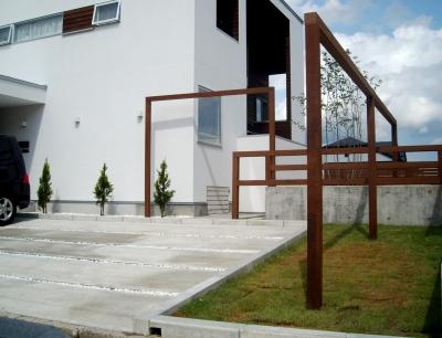 宮城県仙台市/ラインが際立つモダンなお庭/エクステリア&ガーデンのジーランド