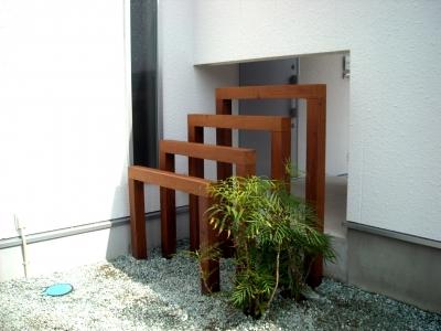 宮城県仙台市/フレームを使った目隠し/エクステリア&ガーデンのジーランド