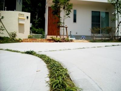 宮城県仙台市/駐車スペースのスリット/エクステリア&ガーデンのジーランド