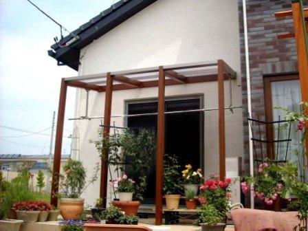 宮城県角田市/ナチュラルなオープンテラス/エクステリア&ガーデンのジーランド