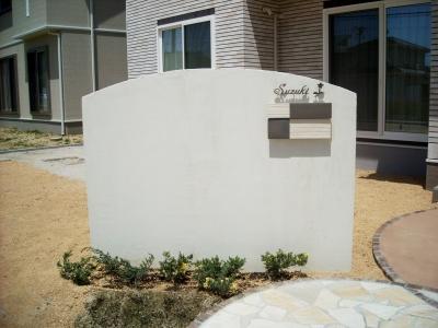 宮城県柴田町/ディーズガーデンの埋め込みタイプポスト「スクエア」/ガーデン&エクステリアのジーランド
