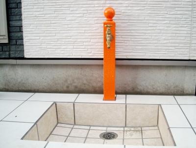 宮城県石巻市/ビタミンカラーの立水栓/ガーデン&エクステリアのジーランド