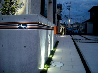 宮城県石巻市/表札(ライトアップ)/ガーデン&エクステリアのジーランド