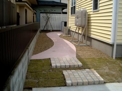 宮城県多賀城市/お庭へのアプローチ/エクステリア&ガーデンのジーランド