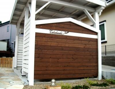宮城県多賀城市/木製門壁/エクステリア&ガーデンのジーランド
