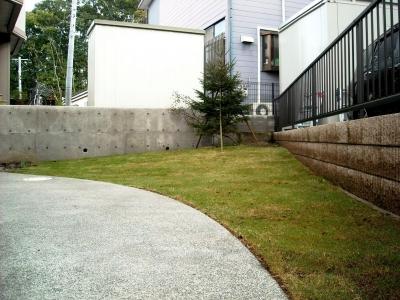 宮城県多賀城市/盛り土した芝/エクステリア&ガーデンのジーランド