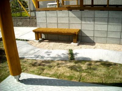 宮城県仙台市/木製ベンチ/エクステリア&ガーデンのジーランド