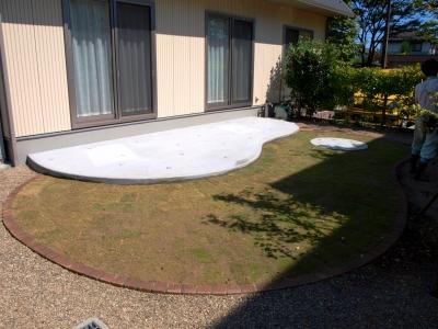 宮城県富谷町/シンプルかわいいテラスのお庭/エクステリア&ガーデンのジーランド