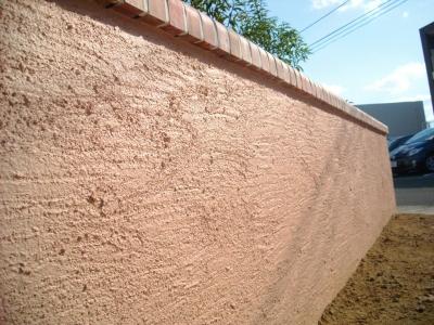 宮城県大和町/門壁表面のジョリパット/エクステリア&ガーデンのジーランド